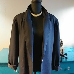 Black vintage boyfried blazer